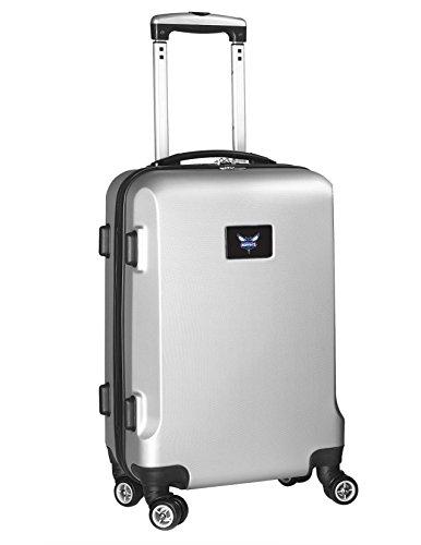 Denco NBA Charlotte Hornets Carry-On Hardcase Luggage Spinner, Silver