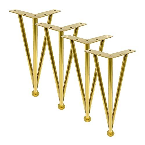 4X Pies para Muebles,metal ajustables de acero inoxidable,Patas de Mesa de Metal, Patas de Sofá Reemplazables, Patas de Mesa de Centro, para Pies de Muebles de Mesa de Centro, Mueble de TV, Sofá(Col