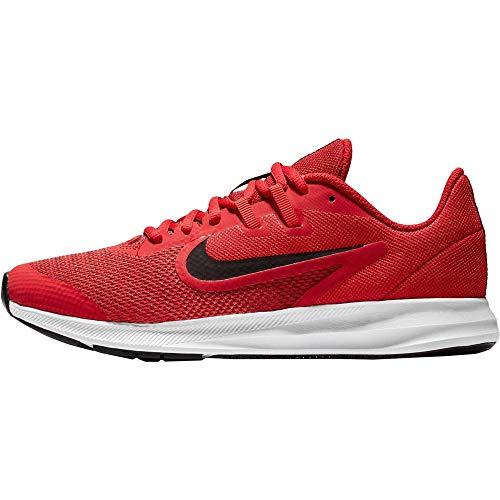 Nike Downshifter 9 (GS), Zapatillas de Atletismo Unisex Adulto, (Gym Black/University Red/White 000), 40 EU
