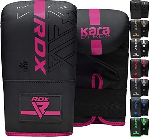 RDX Boxhandschuhe für Kickboxen und Muay Thai Training, Maya Hide Leder Kara Boxsack Handschuhe für Kampfsport, Sparring, Boxen, MMA, Punchinghandschuhe für Fitness Stanzen, Sandsack (MEHRWEG)
