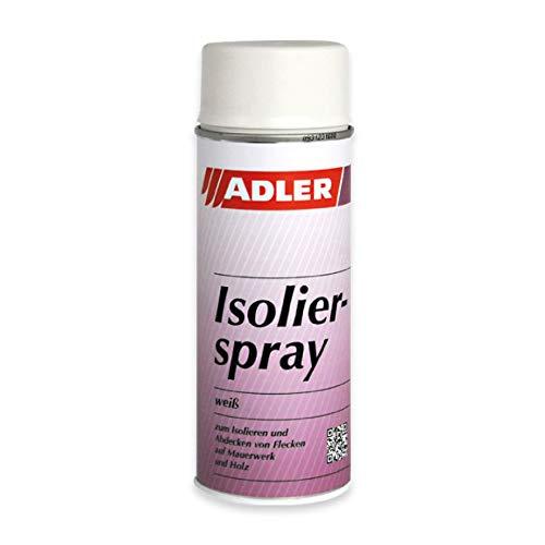 ADLER Isolierspray 400ml Weiß - Universelle, weisse Isolierfarbe für Flecken - Fleckenblocker