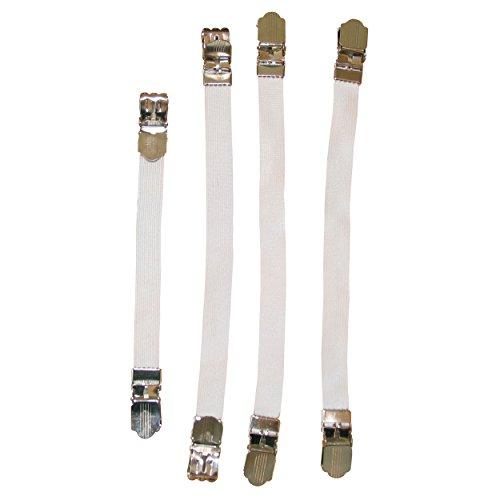 MSV 130071 Lot de 4 Tendeurs pour Housses Blanc 8 x 0,1 x 0,1 cm