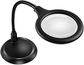 comprar comparacion Delixike 5X Lupa Lámpara - Lupa con luz y soporte, lámpara LED regulable de tacto libre ultra brillante, ideal para leer, ...