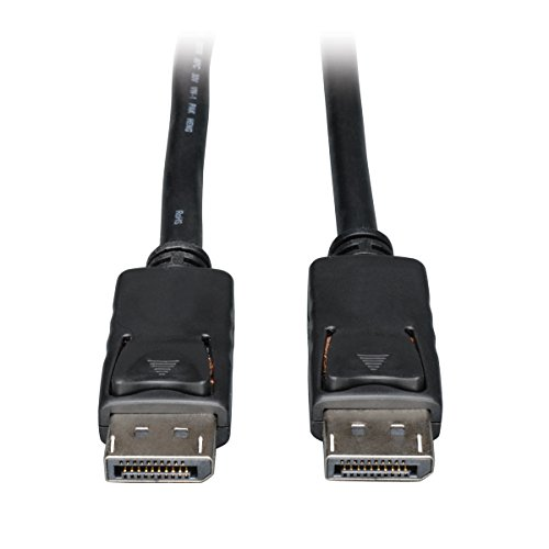 Tripp Lite DisplayPort Cable with Latches (M/M), DP to DP, 4K x 2K, 1-ft. (P580-001), Black
