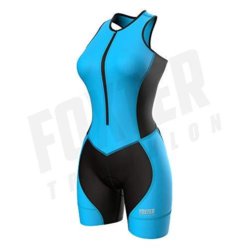Foxter Triatlón Traje de triatlón para Mujer – Triatlón Race Trajes – Tri Traje de triatlón de una Pieza