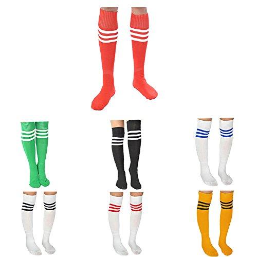 JJ Store - Calcetines deportivos para mujer, diseño de rayas 7 pares. talla única