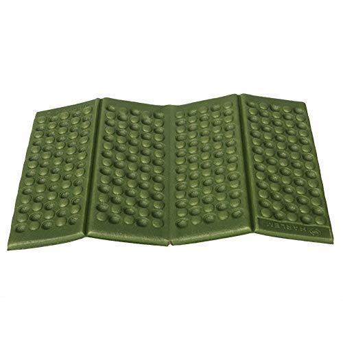 Venkaite Faltmatte Klappmatte Bodenmatte Sitz Wasserdicht 38 x 27cm außen Camping, 2PCS (Militärgrün)