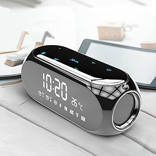 Despertador Relojes De Escritorio Portátiles para El Hogar Altavoz Bluetooth Inalámbrico Reloj Despertador para Computadora Móvil Receptor De Radio Digital Mini Reloj Despertador