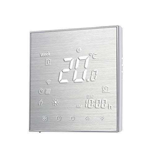 WiFi Thermostat Heizung 5A Raumthermostat digitaler Wandthermostat programmierbar Raumtemperaturregler für Fussbodenheizung elektrische Heizung Wandheizung mit großer LCD-Bildschirm 95-240V (Golden)