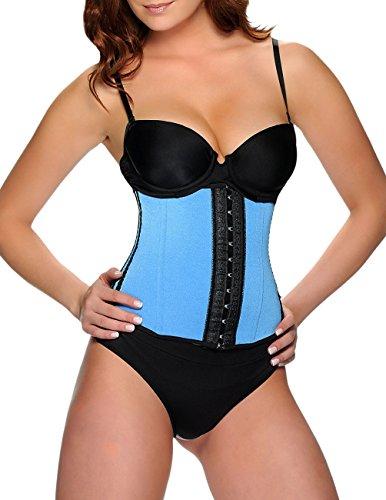 Vedette Womens Shapewear 348 Zoe Waist Torsette (XS (32), Blue)