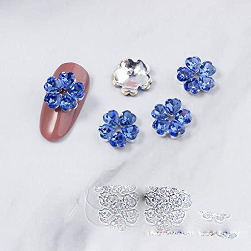 10 teile/los 3d legierung rose blume liebe nagelkunst dekorationen liefert steine strass edelsteine metall nägel zubehör schmuck charms-LF6298