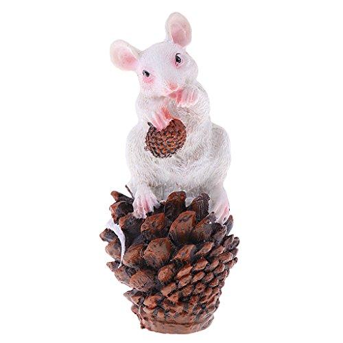Sharplace Mini Harz Tiere Vogel Figur als Sammlung oder Haus Deko - Maus