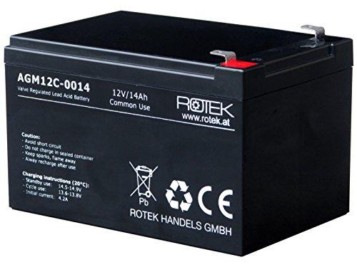 Rotek 12V 14Ah AGM Blei-Säure Fliesakkumulator, Common Use für allgemeine Anwendungen