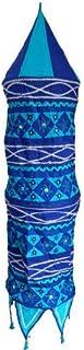 Abat-jour CANAL bleu et turquoise 135cm patchwork coton luminaire éclairage Lampe suspension