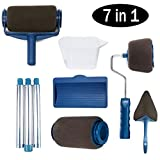 GeekerChip Pennello Rullo di Vernice Set(7 in 1),Pennello Multifunzione con Serbatoio Professionale per Pittura con Tubo di Prolunga per Casa e Ufficio