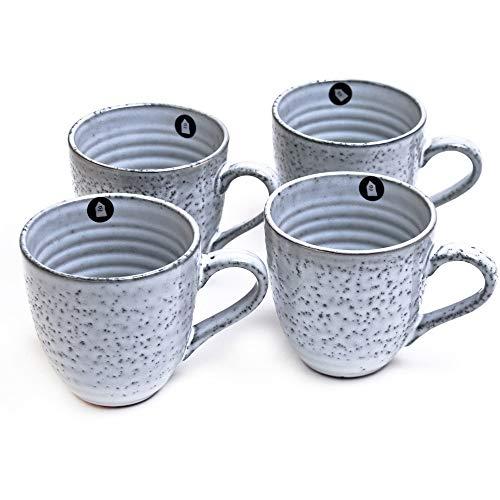House Doctor Rustic/Tassen Set / 4 Tassen/aus Keramik/handgefertigt in individuellem Design