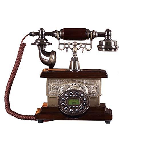 MHTCJ Retro-Stil Retro-Drehknopf Schnurgebundenes Telefon zu Hause und im Büro