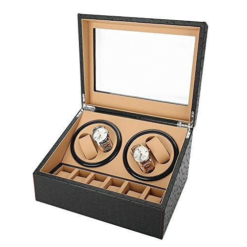 WUPYI2018 2Motor Uhrenbeweger Leder Display Box Fall Lagerung 4+6 Uhren Watch Uhrenbox Automatische Uhrendreher