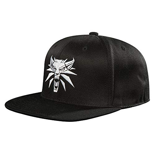 JINX The Witcher 3 White Wolf Medallion Snapback Baseball Hat, Black, Adult Size