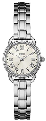 Guess Fifth ave Damen Uhr analog Quarzwerk mit Edelstahl Armband W0837L1