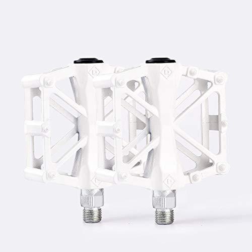 Mayco Bell - Pedali per mountain bike con pedali da strada, in lega di alluminio, 9/16, colore: Bianco
