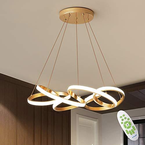 LED Esstisch Pendelleuchte, 78W 7100lm Moderne Einfacher kreative Kronleuchter Lampe, 3000K ~ 6000K Dimmbar, Geeignet für Wohnzimmer Schlafzimmer Esszimmer Deckenleuchte Hängelampe
