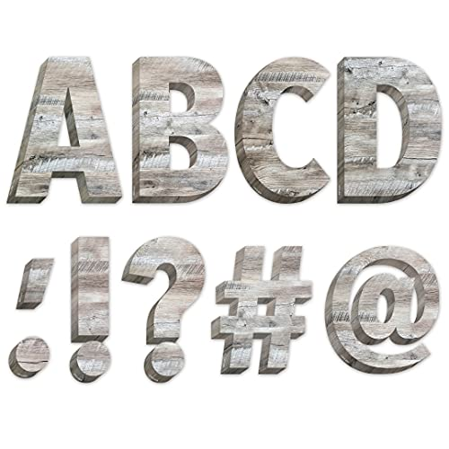 """Creative Teaching Press Rustic Wood 6"""" Designer Letters (Decorate Party Signs, Hallways, Doors, Rooms, Offices, Learning Spaces and More) (8162)"""