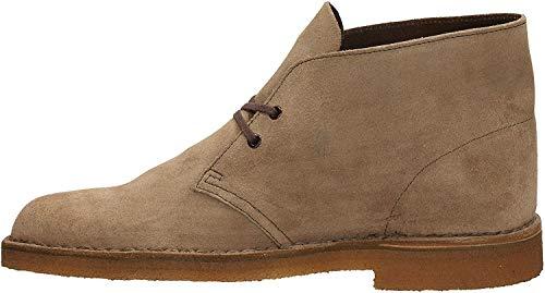 Clarks Originals Desert Boot, Stivali Chukka Uomo, Grigio (Wolf), 42.5