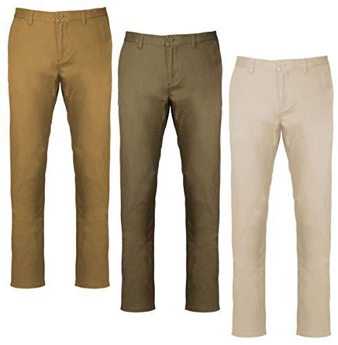 Kariban Lot 3 Pantalons Chino Homme K740