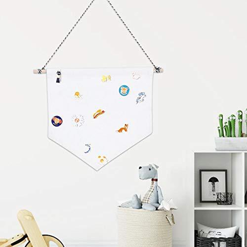 Banners de crachá, suporte de armazenamento de broche, escritório de algodão de poliéster para decoração de casa(white, M)