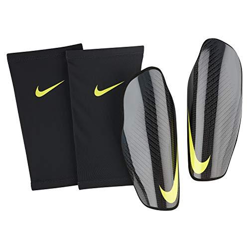 Nike NK PRTG Carbonite GRD Schienbeinschoner für Fußball, Erwachsene, Unisex, Mehrfarbig (Carbon/Anthracite/Optti Yellow), L