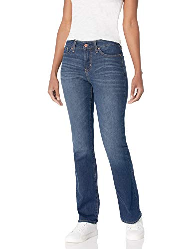 Signature by Levi Strauss & Co. Gold Label Women's Totally Shaping Bootcut Jeans, Blue Laguna, 4