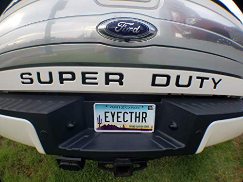EyeCatcher Tailgate Insert Letters fits 2008-2016 Ford Super Duty (Gloss Black)