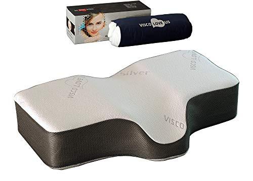 VISCO LOVE Silver Sleep Therapeutic Wellness (Large Adult) Memory Foam Pillow US LLC.