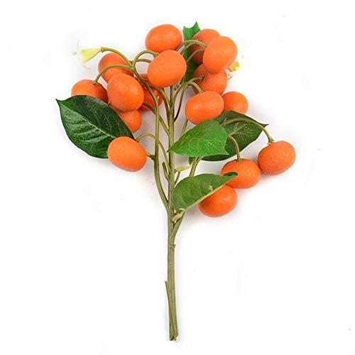 Limón artificial en maceta árbol Bonsai Accesorios vegetales Plantas de cocina Juguetes boda del partido de Inicio for la decoración de frutas falso (Color : Orange)