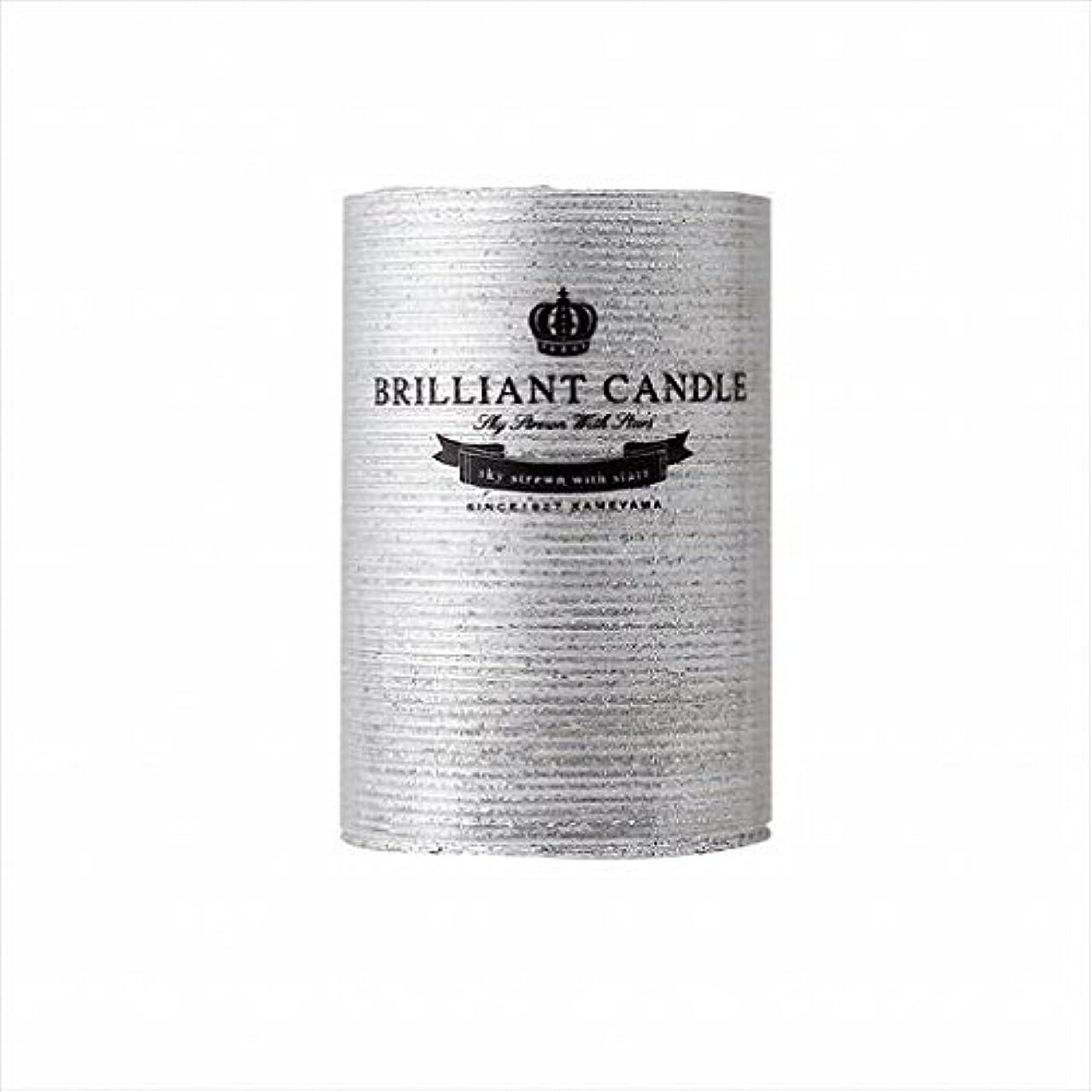 流用する政令薬剤師カメヤマキャンドル(kameyama candle) ブリリアントピラー2×3 「 シルバー 」