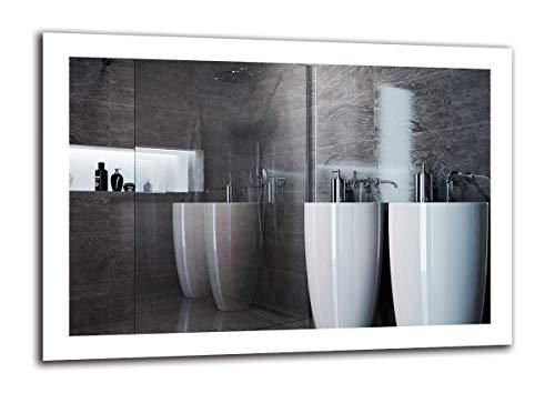 Espejo LED Premium - Dimensiones del Espejo 100x70 cm - Espejo de baño con iluminación LED - Espejo de Pared - Espejo de luz - Espejo con iluminación - ARTTOR M1ZP-50-100x70 - Blanco frío 6500K
