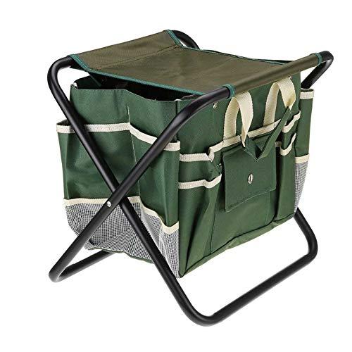 SASCD 2 en 1 Bolsa de Silla Plegable Pesca al Aire Libre Camping Taburete Portátil Mochila Picnic Bag Senderismo Mesa de Asiento Bolsa Oxford Paño Jardín (Color : A)
