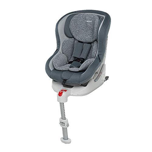 Foppapedretti Isoprogress Seggiolino Auto Gruppo 0+/1 (0-18 Kg) per Bambini dalla Nascita Fino a 4 Anni Circa, Silver