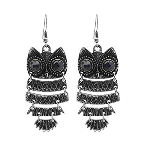 Wean Vintagrre Owl Eaings - Pendientes creativos para mujer y niña