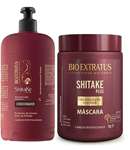 Bio Extratus Kit Shitake Plus Condicionador + Mascara 1l