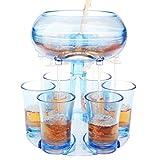 Shot Dispenser for Filling Liquids, Shot Pourer Alcohol Dispenser, Shot Glass Dispenser and Holder with 6 PC Cup, Alcohol Liquor Beverage Dispenser for Drinks, Liquor, Wine Party Games