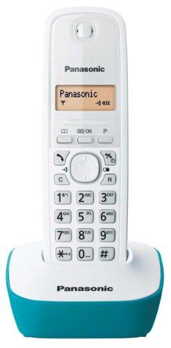 Panasonic KX-TG1611FRC Téléphone solo sans fil DECT sans répondeur Bleu [Version Française]