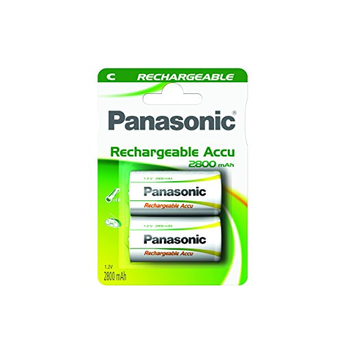 Panasonic P14P/2BC Rechargeable Accu Power C Batterie (1,2V, 3000mAh, 2-er Pack)