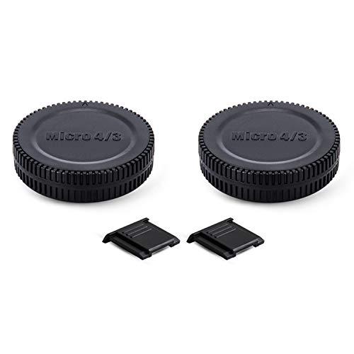 2 Pack Micro 4/3 Mount Body Cap Cover & Rear Lens Cap for Panasonic G9 G7 G85 G95 GH5 GH5S GH4 GH3 GX9 GX8 GX85 GF9 GF10 Olympus OM-D E-M1 E-M5 E-M10 E-M1X Pen E-PL10 E-PL9 E-PL8 E-PL7 E-P3 and More