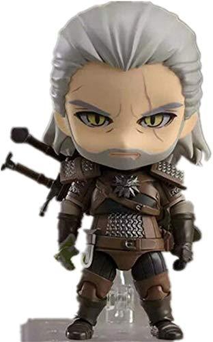 No The Witcher 3 Wild Hun Geralt de Rivia PVC Figura 10cm, Modelo de Anime Escultura Regalo de colección