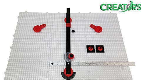 Creator's Ultra Beetle Bits EVERYTHING Glass Cutting System - COMPLETE WITH 6-Pack Waffle Grids and Push Button Flying Beetle Glass Cutter INCLUDED - Made In The USA