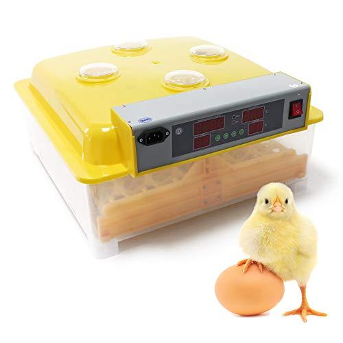 Wiltec Automatische Brutmaschine 48 Eier Brutapparat Flächenbrüter Inkubator 4 Sichtfenster