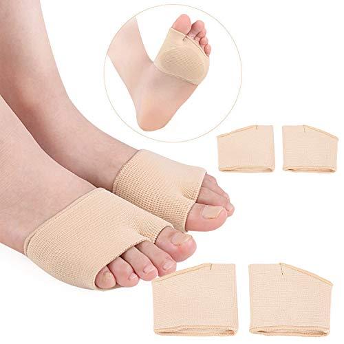 GCOA 2 pares protectores para el metatarso de tela,Plantillas de Gel Para el Metatarsiano,De Tejido Suaves Cuidado de Pies para el Empeine alivia el dolor