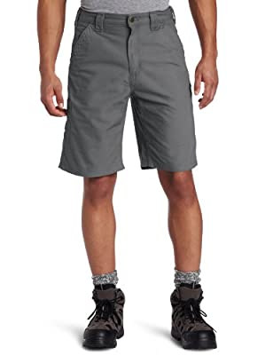 Carhartt Men's Canvas Work Short B147,Fatigue,34
